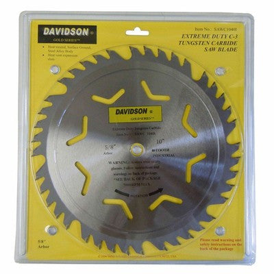 "10"" Carbide Tip Circular Saw Blade 40 Tooth - JABETC"