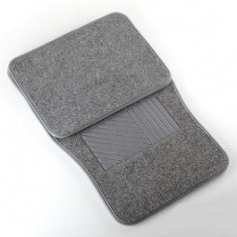 4 Piece Piece Universal Light Grey Carpet Gray Carpeted Floor Mats for Car Vehicle - JABETC