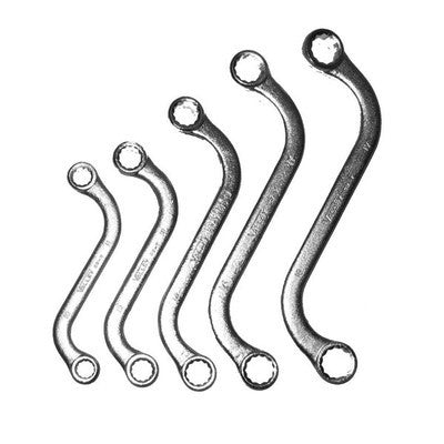 5 Piece S-Shaped Box End Wrenchs - JABETC