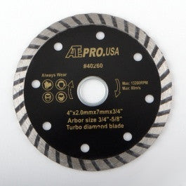 "4"" Diameter Turbo Wet or Dry Circular Diamond Tile Cutting Cut Saw Blade - tool"