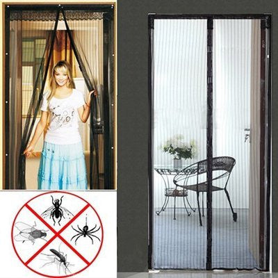 Easy Mesh Magnetic Magnet Holding Closing Bug Screen for House Door Doorway - JABETC - 1