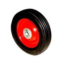 "6"" Replacement Solid Hard Rubber Tire Wheel and Rim for Dolly Hand Cart - tool"