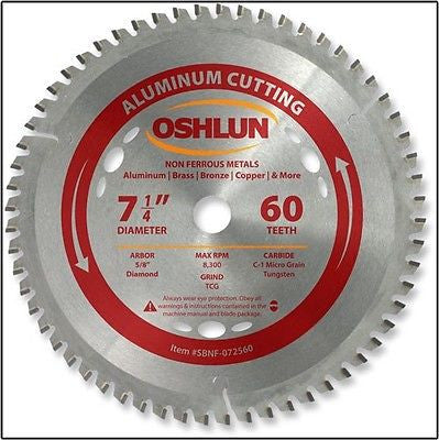 "7-1/4"" 60T Carbide Tip Aluminum Cutting Saw Blade - tool"