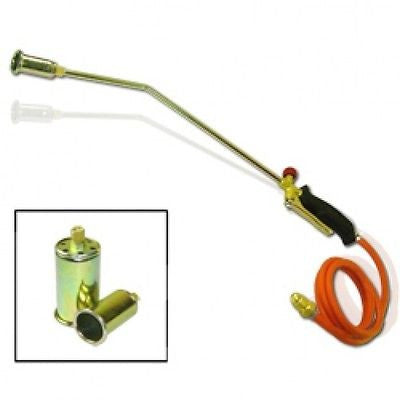Propane Gas Down Roofing Flame Thrower Gun Torch Tool Weed Brush Burner Burning - JABETC