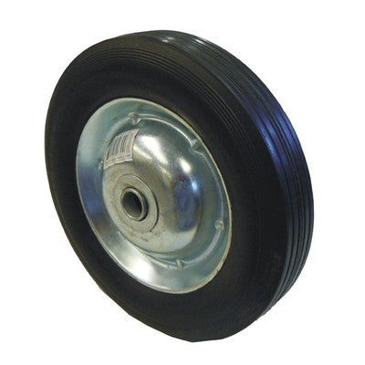 "8"" Replacement Solid Hard Rubber Tire Wheel and Rim for Dolly Hand Cart - JABETC"
