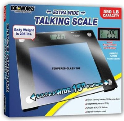 Large Big Talking 550 LB Capacity Electronic Jumbo Body Bath Bathroom Scale - JABETC