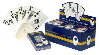 12 Pack Plastic Coated Deck of Big Large Giant Number Casino Poker Playing Cards - tool