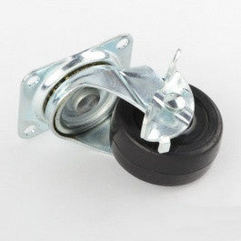 "2"" Wheel Swivel Rotating Steel Caster Wheel with Locking Brake Castor - JABETC"