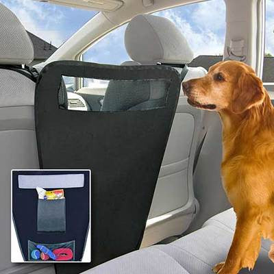 Auto Car Vehicle Between The Front Bucket Seats Pet Dog Divider Barrier Wall - JABETC
