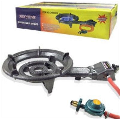 Portable Lpg Propane Gas Outdoor Camping Burner Stove Top Cast Iron Stovetop - JABETC