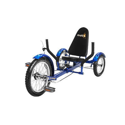 Blue 3 Three Wheel Wheeler Bicycle Cruiser Bike Tricycle Low Rider Riding Trike - JABETC