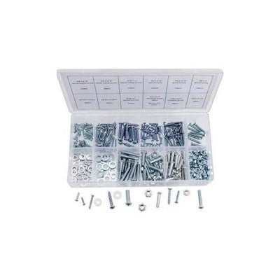 347 Piece Metric Nut and Bolt Assortment Sheet Metal Machine Screw Hardware Kit - tool