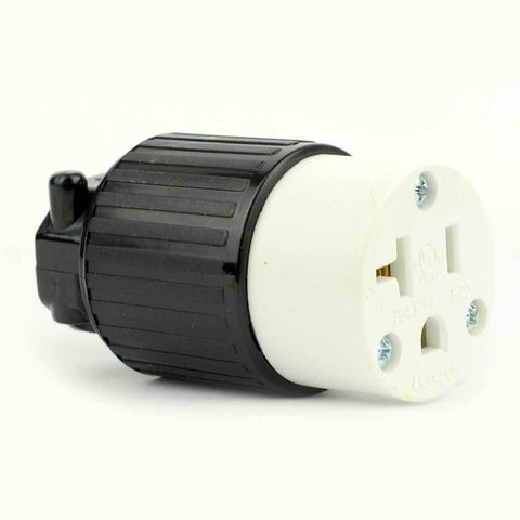 Side Ways Electric Receptacle 3 Wire, 20 Amps, 125V, NEMA 5-20R Female Plug - tool