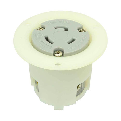 Twist Lock Flush Mount Flange Receptacle 3 Wire, 20 Amps, 125V, NEMA L5-20R - tool