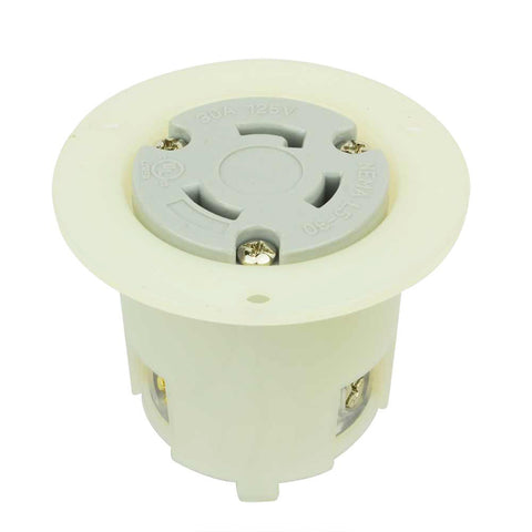 Flush Female Twist Lock Flange Receptacle 3 Wire, 30 Amps, 125V, NEMA L5-30R - tool