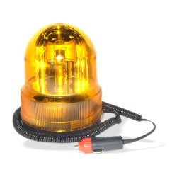 12V Yellow Amber Rotating Beacon Emergency Magnetic Vehicle Light Lamp - tool