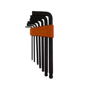7 Piece Standard Size Ball End Hex Key Set - tool
