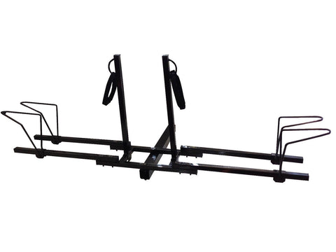 Deluxe Dual Twin Lower Mount Bike Bicycle Trailer Hitch Mount Carrier Rack