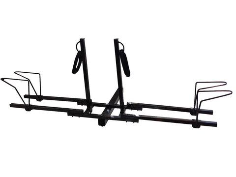 Dual Twin Lower Mount Bike Bicycle Trailer Hitch Mount Carrier Rack - JABETC