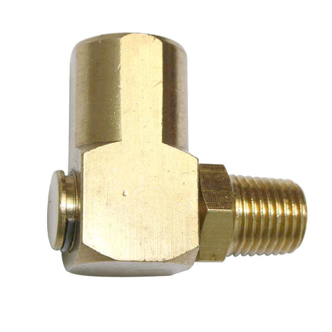 90 Degree Brass Swivel Angle Air Fitting Swiveling End
