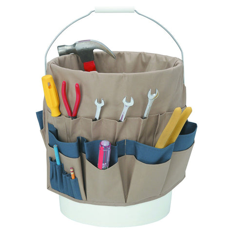 Tool Box Organizer Pouch Bag for 5 Gallon Bucket Toolbag Toolpouch Holder - tool