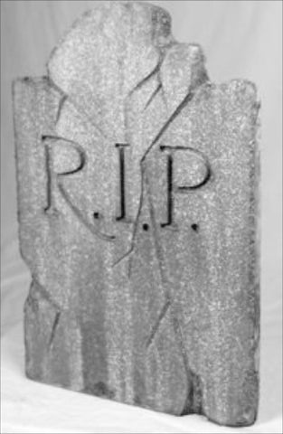 Foam Outdoor RIP Tombstone Halloween Decoration Prop - tool
