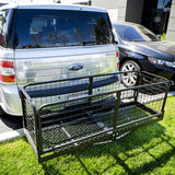 Hitch Mounted Mount Cargo Holder Cage Box Rack - tool