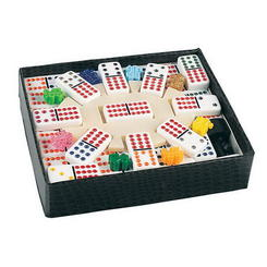 Color Dot Mexican Train Dominoes Game Set