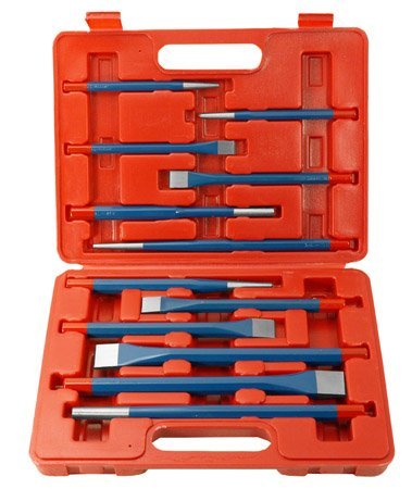 12 pc Metal Punch and Chisel Set - tool