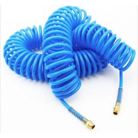 50 Foot Blue Recoil Coiled Air Hose - tool