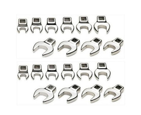 20PC Metric and SAE Crowsfoot Wrench Crow Foot Master Set - JABETC.COM