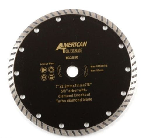 "7 "" Inch Wet Dry Turbo Diamond Tile Cutting Saw Blade - tool"