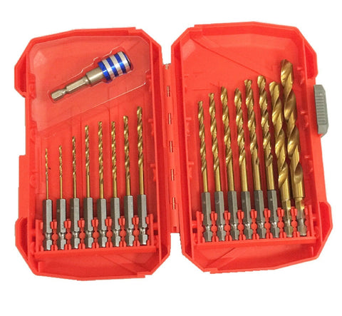 17PC Quick Change Snap On Off Drill Bit Set