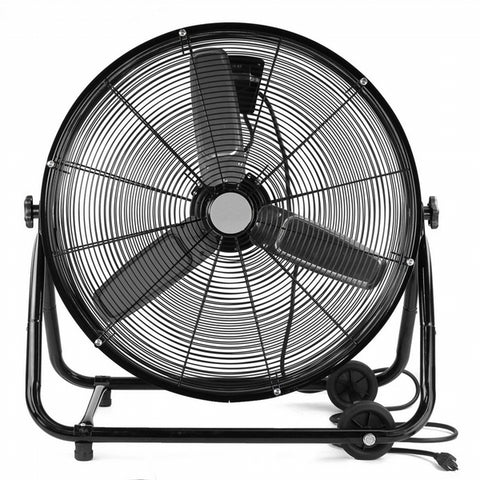 Large Rolling Floor Drum Fan On Wheels - tool