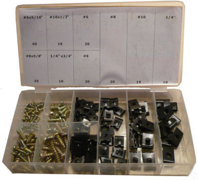 Car Auto Interior Door Panel Trim Screw Fastener Metal U Clip Assortment Ford Gm - tool