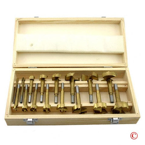 16 PC Titanium Forstner Bit Wood Drilling Bit Set - tool