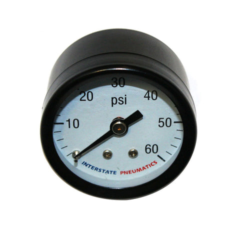 "Air Pressure Gauge 60 PSI 1 -1/2"" Diameter 1/8"" NPT Rear Mounted"