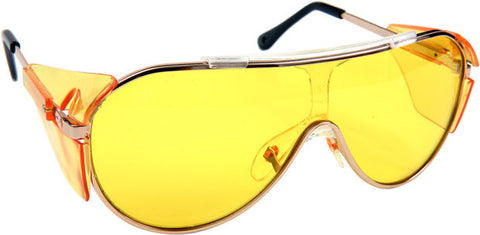 Gold Rim Night Vision Driving Glasses - JABETC - 1