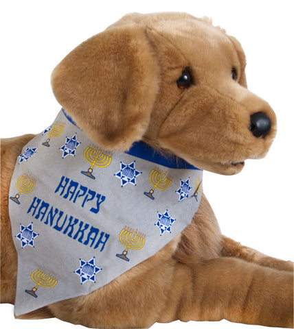 Large Hanukkah Dog Bandana