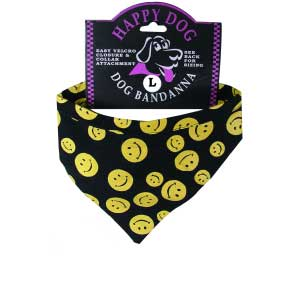 Happy Face Dog Bandana for XS Small Dog