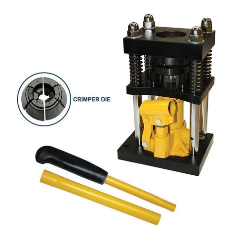 "1/2"" to 3/4"" Manual Hydraulic Air Hose Ferrel Crimper Crimping - JABETC"