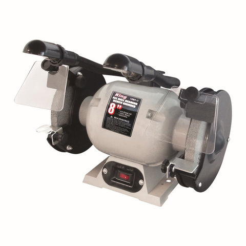 King 8 Inch Bench Grinder With Light