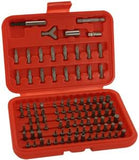 100 Piece Hex Shank Tamper Proof Resistant Security Driver Screwdriver Bit Set Kit - JABETC - 1