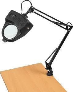 Clamp On Table Swing Arm Lighted Magnifier Magnifying Hobby Desk Work Lamp Light - tool