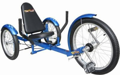 Blue 3 Three Wheeler Low Rider Riding Bicycle Bike Trike Tricycle For