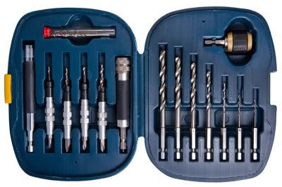 Quick Change Drill Countersink Wood Screwdriver Bit Set for Woodworking Screws - JABETC - 1