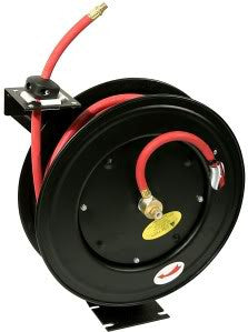 25 Foot Self Winding Retracting Wind Up Retracting Air Compressor Hose Reel - tool