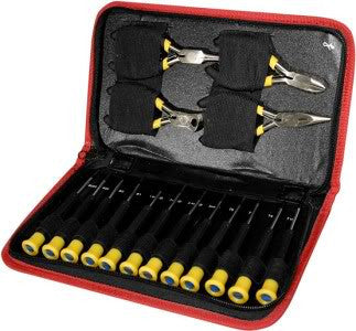 16 Piece Mini Precision Screwdriver Pliers Computer Repair Tool Jewelry Kit Set - tool