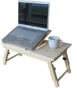 Wooden Portable Laptop Notebook Computer Desk Table Bed Stand Work Lap Top Tray - JABETC - 1