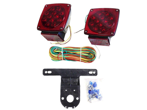 Submersible Underwater Led Tail Rear Waterproof Lights Kit for Car Trailer Boat - tool